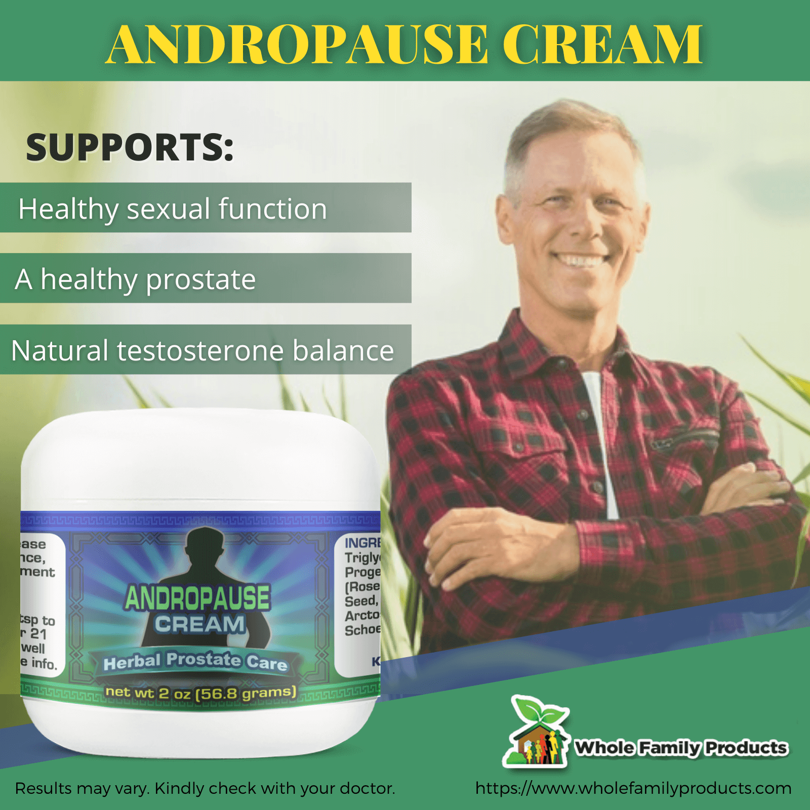 Andropause Cream Benefits WFP Infographics