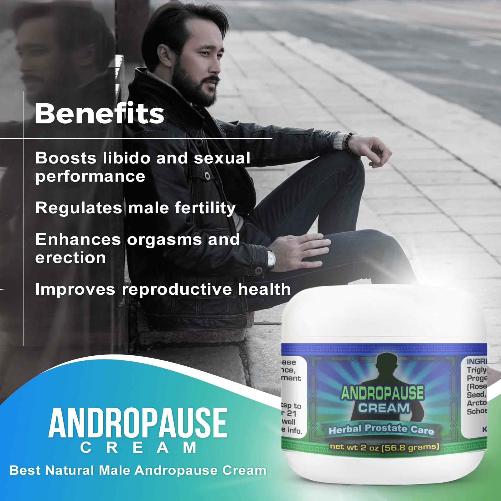 Andropause Cream Increase Male Libido Infographics